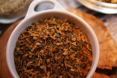 Herbes de thé Photographie stock