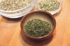 Herbes de thé Photos stock