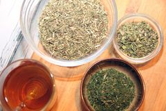 Herbes de thé Image stock