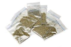 Herbes en paquets d'isolement Photo libre de droits