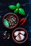 Herbes et épices Photos libres de droits