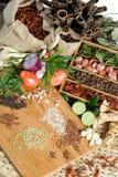 Herbes et épices fraîches Photo stock