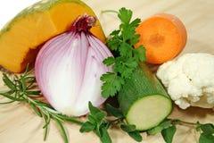 Herbes et légumes Photographie stock