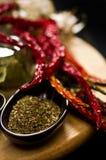 Herbes et s/poivron photo stock