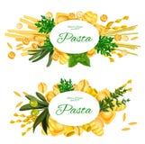 Herbes italiennes de pâtes et de cuisson, vecteur illustration de vecteur