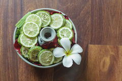 Herbes naturelles pour le traitement de station thermale Photographie stock