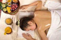 Herbes pour le massage photographie stock libre de droits