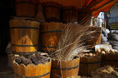 Herbes sur le marché. Photo stock