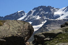 Herbetet, Gran Paradiso - Alps. Herbetet, great paradise. the alps - they of aosta goes. from the cross arolley Stock Image