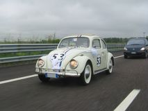 Herbie on the highway Royalty Free Stock Photos