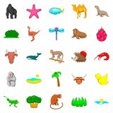 Herbivore icons set, cartoon style. Herbivore icons set. Cartoon set of 25 herbivore vector icons for web isolated on white background Stock Photo