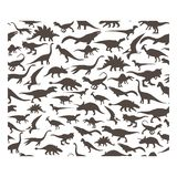 Vector pattern. Set of herbivores and carnivorous dinosaurs. On white background. EPS10 stock illustration