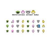 Herbivorous animals baby Stock Photos