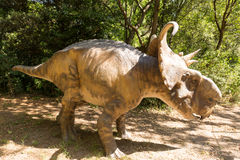 Herbivorous dinosaur with horns Stock Images