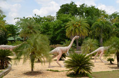 Herbivorous dinosaurs. Statue Herbivorous dinosaurs in Dinosaur park thailand royalty free stock images