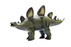 Herbivorous green dinosaur toy, made ​​of rubber. Toy dinosaur on white background Stock Images