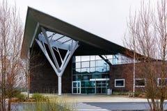 Herblay - modern arkitektur för ny fastighet Arkivfoton