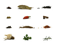 Herbs And Spices - Chart Stock Photos