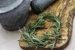 Herbs as heart Royalty Free Stock Photo