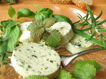 Herbs butter Royalty Free Stock Photography