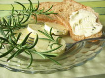 Herbs butter with rosemary Stock Photography
