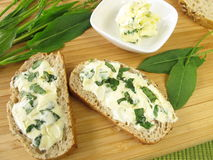 Herbs butter with sorrel Royalty Free Stock Photo