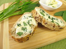 Herbs butter with sorrel Royalty Free Stock Photos