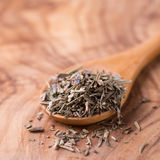 Herbs de Provence. Mixed dried herbs in spoon Royalty Free Stock Image