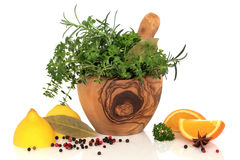 Herbs, Fruit and Spices Royalty Free Stock Photography