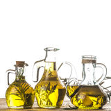 Herbs and garlic olive oil Stock Images