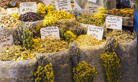Herbs on the Grand Bazar in Istanbul Stock Image