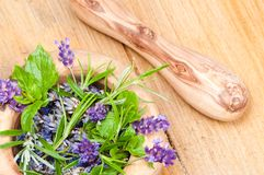 Herbs & Lavender Stock Image