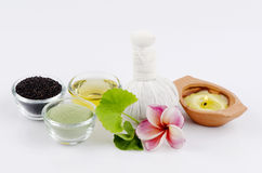 Herbs for mask or scrub to slow down wrinkles and skin hydration. Stock Photo