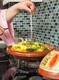 Herbs in Moroccan tajine Stock Image