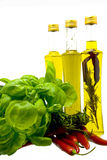 Herbs and oil Stock Photography