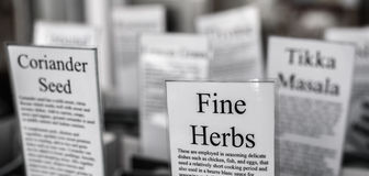 Herbs For Sale Royalty Free Stock Images