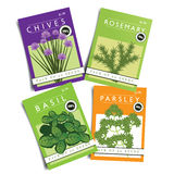 Herbs seed packets Royalty Free Stock Image
