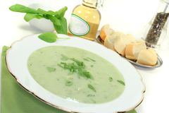 Herbs soup royalty free stock images