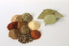Herbs and spices. A selection of herbs and spices Stock Image