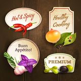Herbs and spices badges set Stock Image