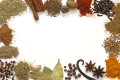 Herbs and spices border royalty free stock images