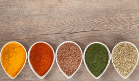 Herbs and Spices Border Royalty Free Stock Photography