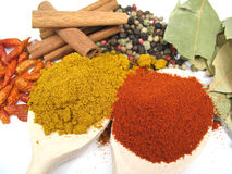Herbs and spices close-up Stock Photo
