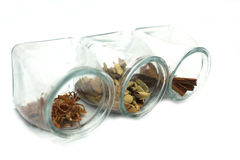 Herbs and spices. A collection of asian spices Royalty Free Stock Photo