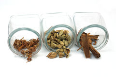 Herbs and spices. A collection of asian spices Stock Photography