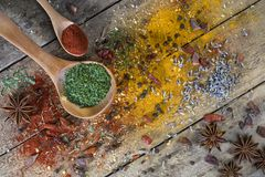 Herbs and Spices - Flavor and Seasoning Royalty Free Stock Photo