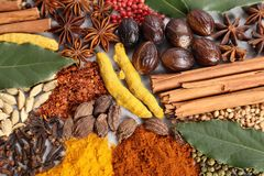 Herbs and spices. Royalty Free Stock Photography