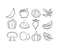 Herbs and spices icons Royalty Free Stock Photos