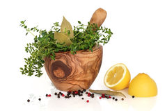 Herbs, Spices and Lemons Stock Photos
