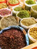 Herbs and spices at market stock images